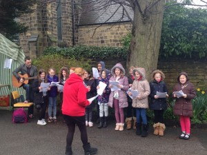 choir in rain